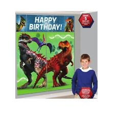 Jurassic World BIRTHDAY PARTY SUPPLIES SCENE SETTER WALL POSTER DECORATIONS