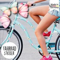 Fahrradaufkleber 32 Schmetterlinge Fahrrad Sticker Pastell Mädchen Kinderfahrrad