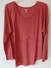Old Navy Womens XXL Tall 2XT Relaxed Fit Sienna L/S Shirt Top Poly Rayon New