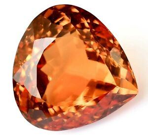 Natural DIASPORE 27.70 Ct Color Change Pear Cut Rare Found CERTIFIED Gemstone