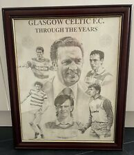 More details for celtic fc - jock stein - through the years - framed picture memorabilia