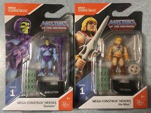 Mega Construx Skeletor & He-man Set Masters of the Universe MOTU Mini Figures