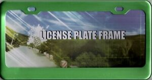 Green Anodized Aluminum License Plate Frame
