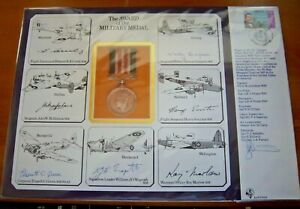 1985 RAF (DM) 6 THE AWARD OF THE MILITARY MEDAL MULTI SIGNED LARGE COVER