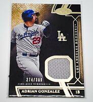 MLB ADRIAN GONZALEZ DODGERS 2015 TOPPS TIER ONE GAME WORN JERSEY /399 MINT