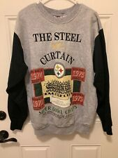 Vintage Pittsburgh Steelers The Steel Curtain Sweatshirt L Made In The USA NFL