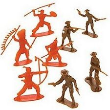 Paquete De 10 figuras indios-plástico Cowboys & - Bolsa Fiesta Saquear Rellenos occidental