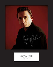 JOHNNY CASH #2 10x8 SIGNED Mounted Photo Print - FREE DELIVERY