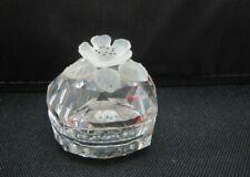 New listing Swarovski crystal ring, trinket heart box. Flower