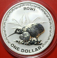 "Neuseeland: 1 Dollar 2005 ""Rowi-Kiwi"" 1 oz,  #F3190 Specimen, extremly rare"