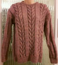 Purple / pink ladies hand knitted jumper