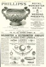 1890 - Antique Print ADVERTISING Phillips China Goldsmiths Silversmiths (284)