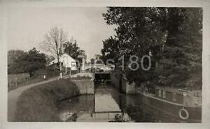 1935 HARLOW Canal Lock and Bridge Essex  Photo   Postcard