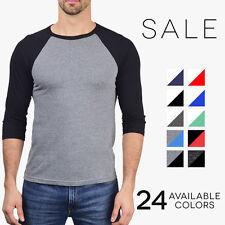 Bella + Canvas Premium 3/4 Baseball Tee Tri Blend Vintage Raglan T-Shirt 3200