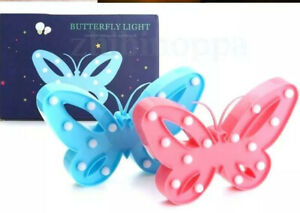 LED Light Up Pink Butterfly Decoration Gift EL0547P