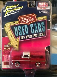 1/64 JOHNNY LIGHTNING USED CARS 1965 CHEVROLET PICKUP TRUCK RED MIJO EXCLUSIVES