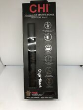 "CHI Air Classic Tourmaline Ceramic 1""Hairstyling Iron,Onyx Black Factory  Sealed"