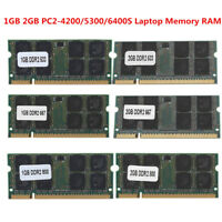 1GB 2GB DDR2 553/667/800Mhz PC2-4200/5300/6400S SODIMM 200Pin Laptop Memory RAM
