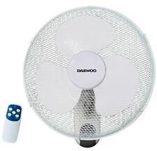 """DAEWOO Casa & Ufficio Bianco 16"""" Parete Ventilatore oscillante con timer & remoto"""