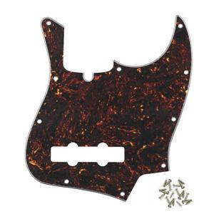 New 4-String FD Jazz Bass Pickguard Scratch Plate 10-hole Brown Tortoise Shell