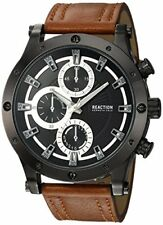 Kenneth Cole Reaction RKC02200 Chronograph Brown Leather Band Men's Watch
