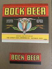 Vintage Bock Beer The Christ Diehl Brewing Bottle And Neck Label Irtp