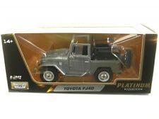 Toyota Land Cruiser Fj40 ouverture Open 1960-84 Gris Argenté Métallique 1 24