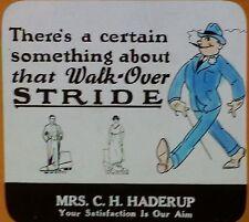 Walk-Over Shoes Advertisement, Mrs. C.H. Haderup, Magic Lantern Glass Slide
