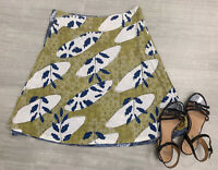 Reversible Skirt A Line Knee Length Blue Green Size 12 14 Casual Out Doors