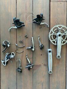 Shimano XT M739 Group Set Vintage MTB Brakes Shifter Derailleur Crank Set Bike