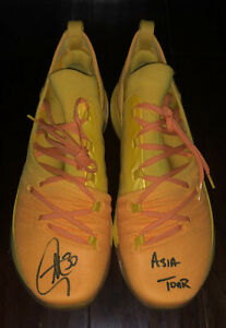 Stephen Curry signed UA Curry 5 autographed inscribed ASIA TOUR shoes JSA USASM