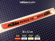 Pegatina Ready to Race KTM visera casco moto racing sport decals sticker visor