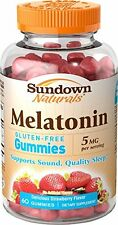 Sundown Naturals Melatonin Gummies 5mg Gluten Free 60ct Each