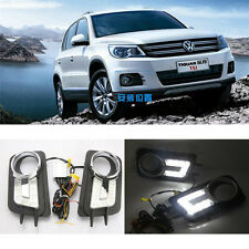 Fit Car LED Daytime Running Light DRL Drive Lamp For Volkswagen Tiguan 2009-2013