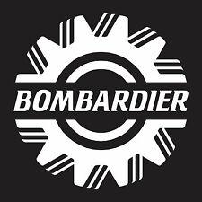 "Bombardier Snowmobile vinyl wall sticker decal small 5"" x 5"""
