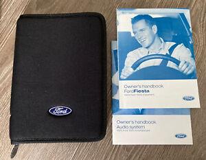 FORD FIESTA OWNERS MANUAL HANDBOOK & FOLDER WALLET BOOK PACK SET Mk5 2002-2008
