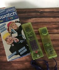 VINTAGE SWATCH TWIN PHONE DELUXE Limelight Green GREAT CONDITION Box