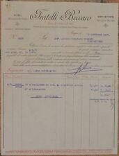 FATTURA FRATELLI BECCARO DAMIGIANE VINO WINE 1907 ENOLOGIA CUCINA COOKING 1907