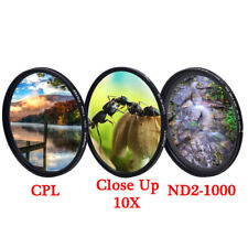 CPL Close Up ND2-ND1000 Macro Variable ND Filter 49 52 55 58 67 mm Camera Lens