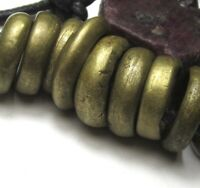 9 RARE AMAZING OLD LARGE NIGERIAN BRASS ANTIQUE RINGS ~ AFRICAN TRADE