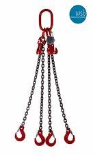 2mtr x 4 leg 7mm Lifting Chain Sling 3.15 tonne with Shortners