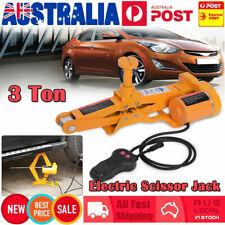 12V Electric Scissor Jack Lift 3T Car Van SUV Automotive Remote Hoist ToolBox