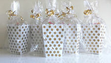 Wedding Favours Favors Luxury Gold and White Pre Filled Polka Dot Treat Boxes