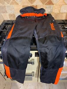 USED STIHL CHAINSAW SAFETY TROUSERS IN EXCELLENT CONDITION