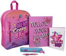JoJo Siwa Filled Backpack Kids Girls School Bag Ringbinder Pencil Case Notepad