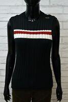 Maglione Donna ENERGIE Taglia S Felpa Pullover Lana Nero Sweater Man Black
