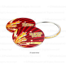 50 Personalized Hand Held Mirrors with Your Full Color Message, Logo, Graphic