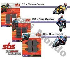 SBS DC Doble Carbon Racing Front BRAKE PADS Aprilia RS4 50 y 125 11-16 12 566DC