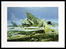 Caspar David Friedrich el océano congelado póster imagen son impresiones artísticas en el marco de aluminio 30x40cm
