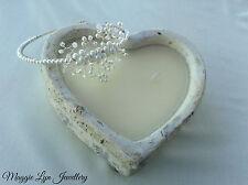 Bridal, Wedding side headband / Tiara. Pearls and Swarovski crystals UK handmade